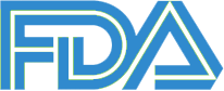 FDA logo blue white